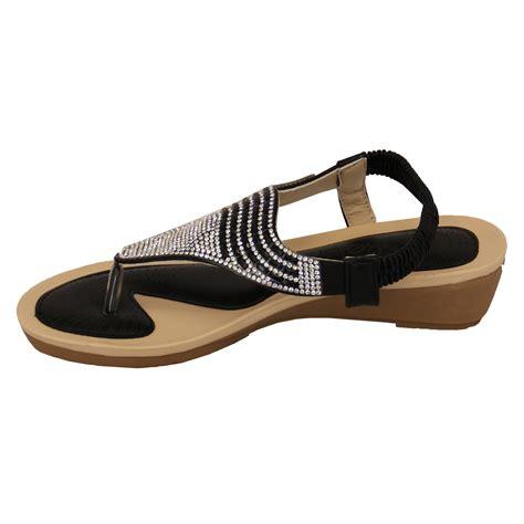 sandals kelsi womens diamante slip on toe post