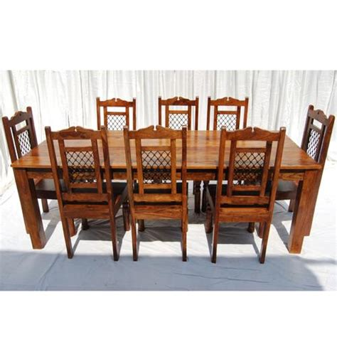 88 quot 9pc wood large rustic dining room kitchen table 8