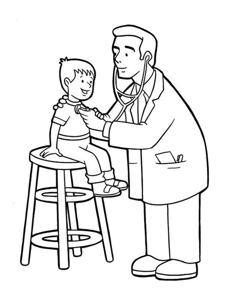 printable doctor coloring page 28 free printable doctor coloring pages for kids ages