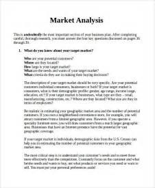 market analysis template business plan doc 600730 sle market analysis sle market