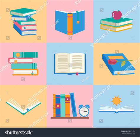 open book infographic vector free download books icons set books stack opened stock vector 292111874 shutterstock