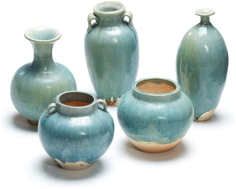 ceramic vase pale blue vases