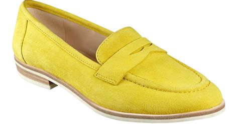 yellow loafers nine west antonicia suede loafers in yellow lyst