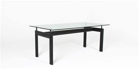 dining table 72 x 36 72 quot w x 36 quot d glass corbusier dining table tbl004377