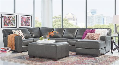large leather sofa sets awesome gray leather sectional with regard to sofa sets
