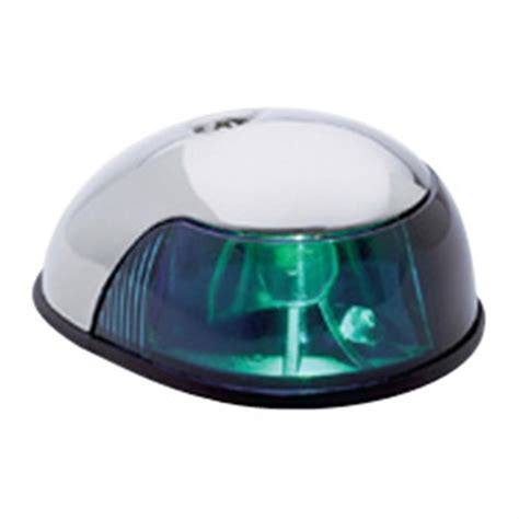 attwood led bow light attwood stainless steel navigation light green 141847