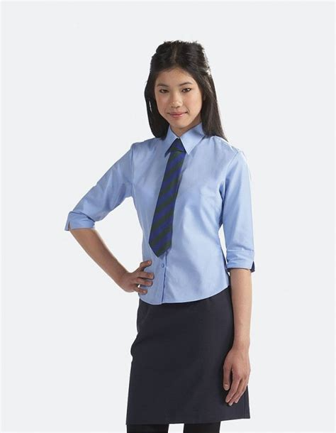 Blouse Age613 school blouse 3 4 sleeve tie collar blouse three quarter sleeve county sports and schoolwear