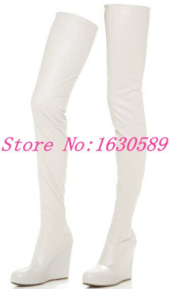 white leather thigh high boots boot 2017