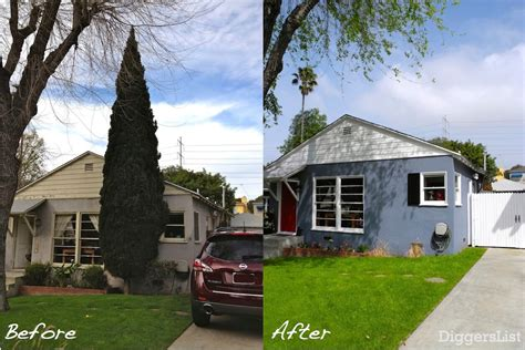before and after home curb appeal makeover for the ugliest house on the block