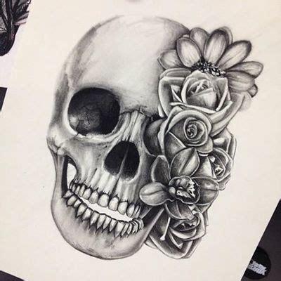 9 skull and roses tattoos