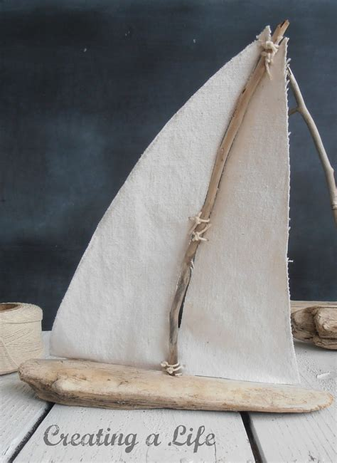 driftwood crafts for creating a driftwood sailboats tutorial