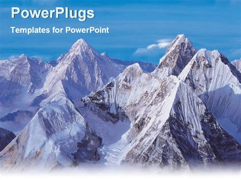 powerpoint templates free mountains mountain range covered by ice powerpoint template