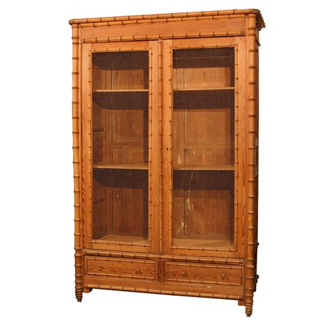 bamboo cabinet faux bamboo cabinet at 1stdibs