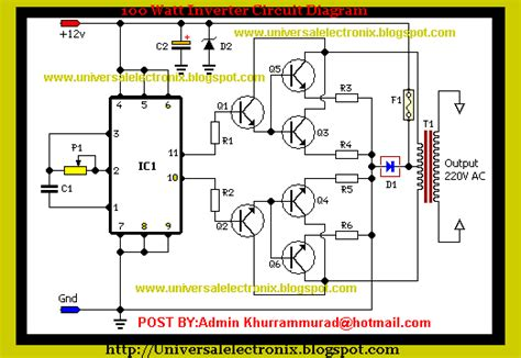 car inverter circuit diagram everyone want electronics 100 watt inverter circuit with