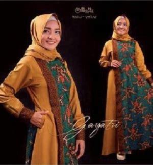 Dress Maxi Wanita Muslim Saikah Fit Xl Merah Biru Motif Simetris model baju setelan dress muslim gamis batik modern