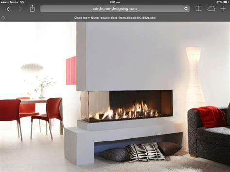 3 way fireplace new house inside