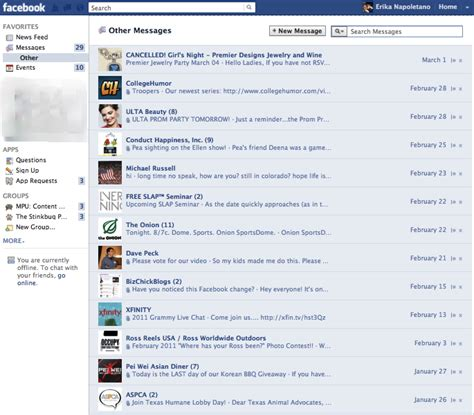 how to rescue messages from facebook s quot other quot inbox