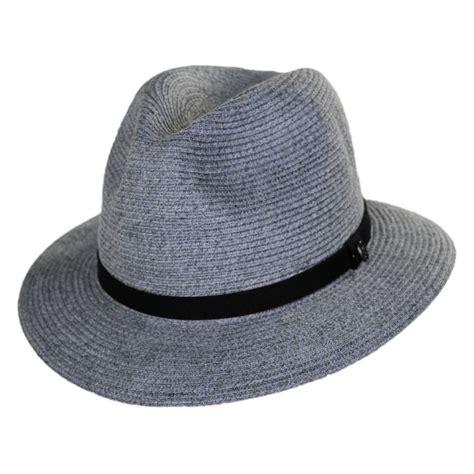 Hat L by Jaxon Hats Ramie Hemp Straw Blend Safari Fedora Hat Straw
