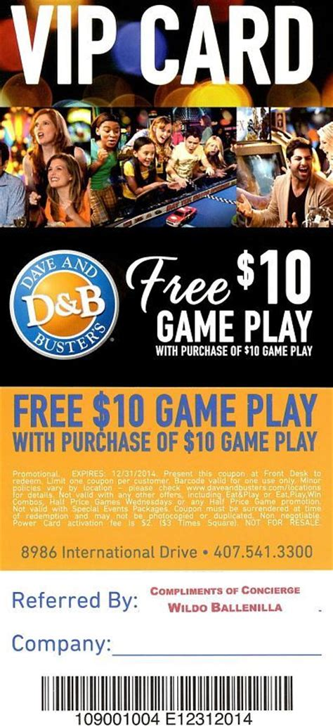 dave and busters printable food coupons printable dave and busters 10 coupon http www pinterest