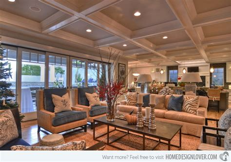 Livingroom Accent Chairs 15 beautiful traditional coffered ceiling living rooms
