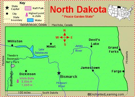 map usa dakota dakota map united states