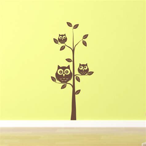 Personalised Bedroom Wall Stickers owls in a tree kids nursery room wall art sticker h521k