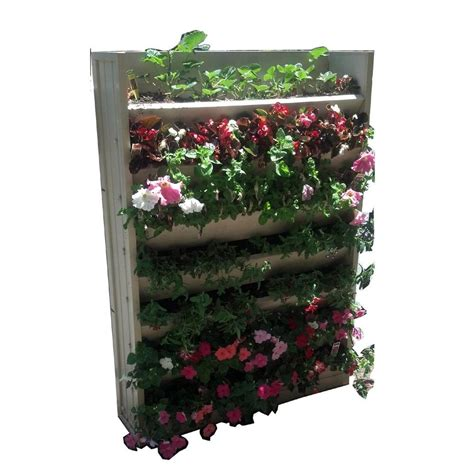 wall garden planter pride garden products mela 8 1 2 in green plastic wall planter 83566 the home depot