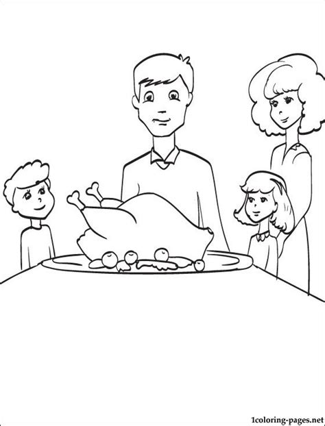 coloring pages for thanksgiving feast best photos of thanksgiving feast coloring pages family