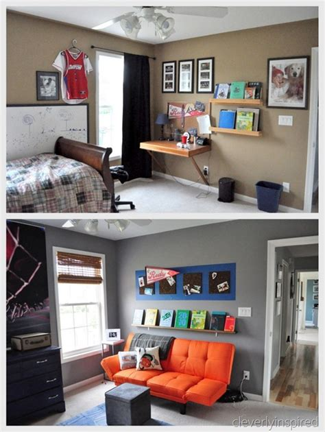 Guys room before and after picture cleaning