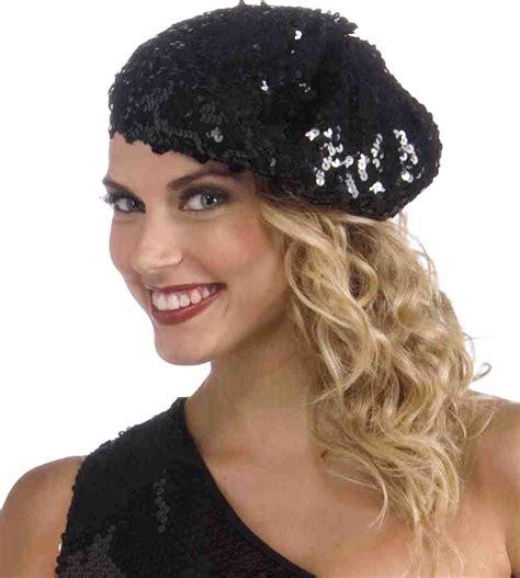 roaring 20s hats for women women s roaring 20 s black sequin flapper beret hat gatsby
