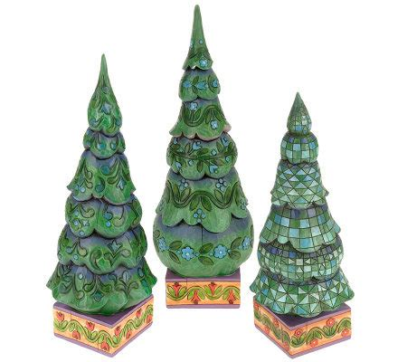 jim shore heartwood creek set of 3 christmas trees page