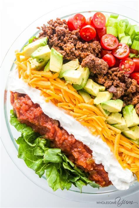 beef taco salad easy healthy taco salad recipe with ground beef
