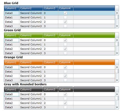 silverlight glass datagrid header styles codeproject