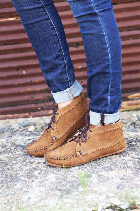 suede ankle boot by minnetonka dusty from the rage