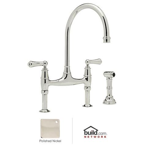 rohl u 4719l 2 polished nickel perrin and rowe low lead
