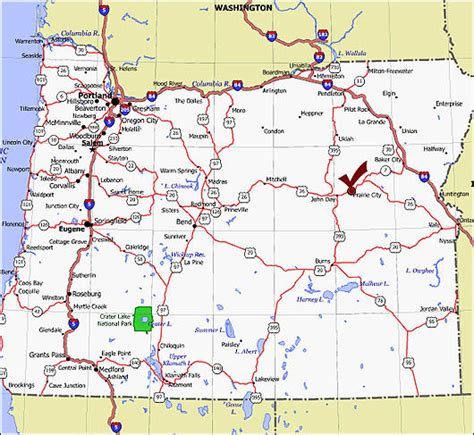 oregon maps prairie city oregon map