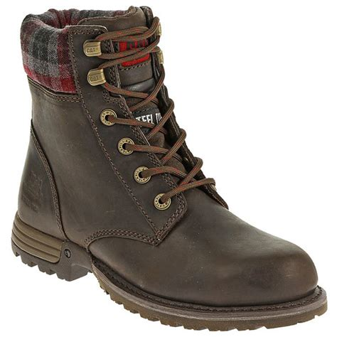 cat kenzie womens 6 inch steel toe work boot p90394