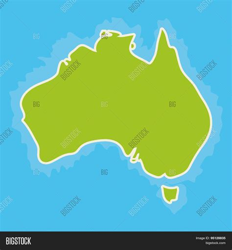 map of australia oceans map australia continent blue vector photo bigstock