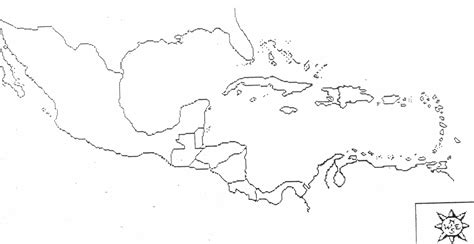 blank map of and central america blank map central america caribbean islands
