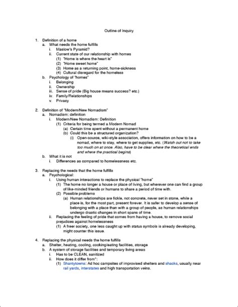 detailed outline template yu jie nomadism outline 6th june 09