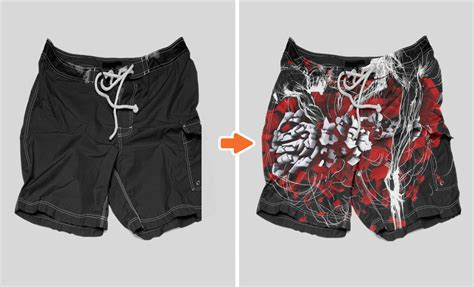 Photoshop Men S Shorts Mockup Templates Pack Board Shorts Template