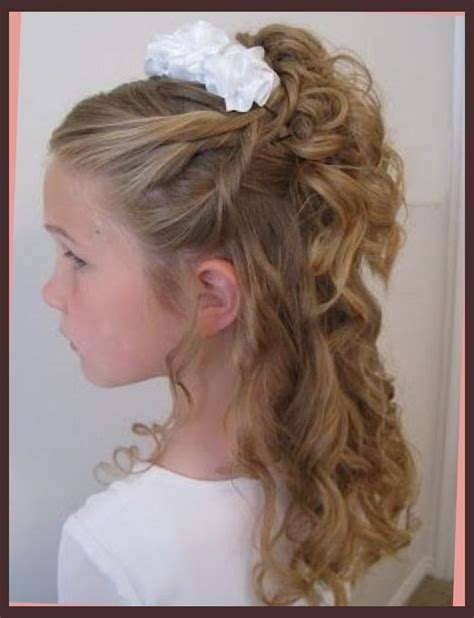 cute hairstyles for first communion hair up on pinterest little girl updo communion and