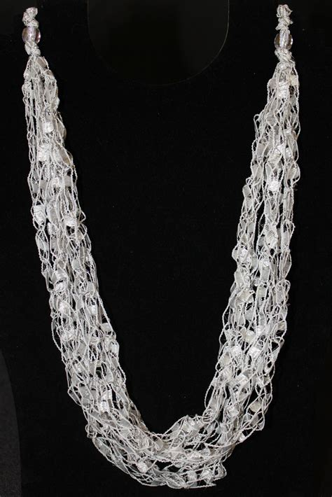 free pattern ladder yarn necklace ribbon yarn crochet patterns crochet for beginners