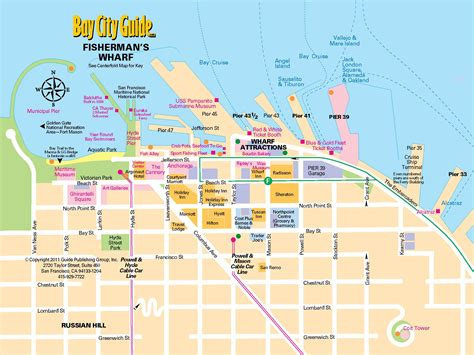 san francisco map attractions 0 tourist map fishermans wharf 0a