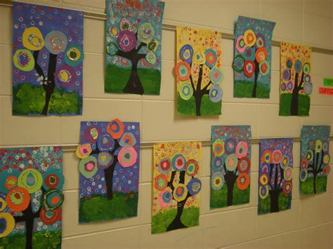 painting ks1 what s happening in the room kandinsky trees 1st grade