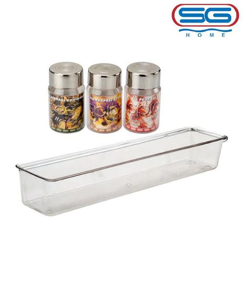 Spice Rack In India by Buy Sg Wall Mounting Spice Rack With Jar Set At Low