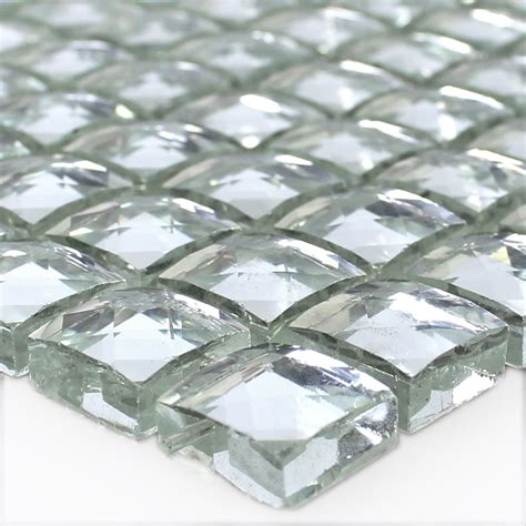 fliesen aus polen glass mosaic tiles silver brilliant white ds33369