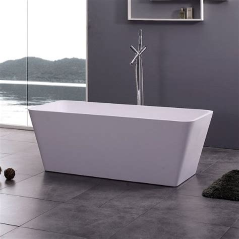 58 Inch Freestanding Bathtub Adm Free Standing Solid Surface Soaker Bathtub 58 X 26