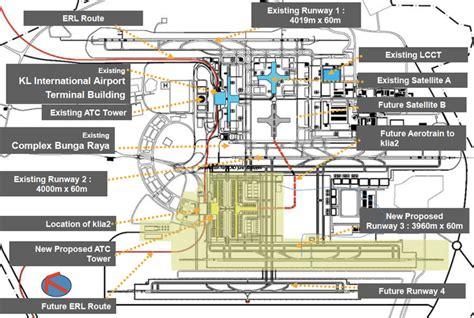 layout plan of klia2 kub to hand over klia2 3rd runway end november malaysia