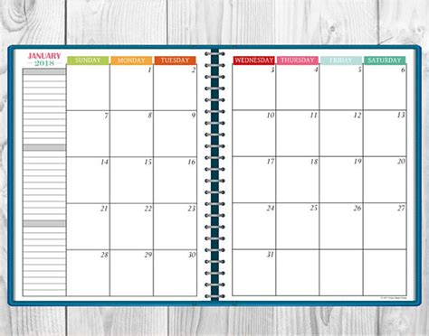 printable calendar multiple months printable multi color 2018 monthly calendar two page spread